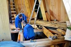 Bouw voorbereiden plaatsen molensteen 6