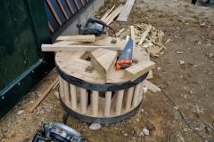 Bouw plaatsen molensteen 1