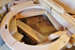 Bouw voorbereiden plaatsen molensteen 1