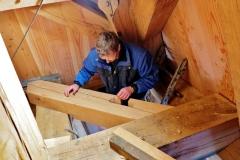 Bouw voorbereiden plaatsen molensteen 4